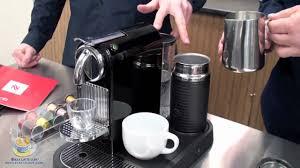 Nespresso Frother Nespresso Citiz In Black With Aero 3 Milk Frother Youtube