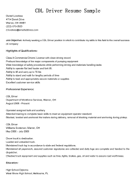 Objective For Truck Driver Resume Cdl Driver Resume Examples Templates Truck Sample Elegant Download 23