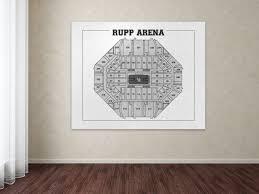 Kentucky Basketball Seating Chart Vintage Print Of Rupp Arena Seating Chart Diagram Blueprint