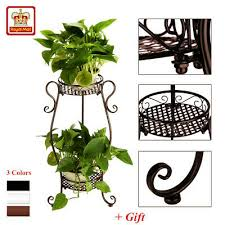 2 tier plant stand rack flower pot detachable display patio garden shelf uk gift