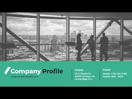 Company Presentation Template Ppt Company Profile Powerpoint Presentation Template