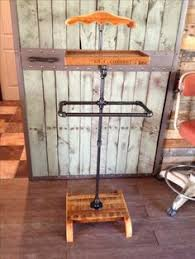 black iron furniture. Rustic Suit Valet Made Of Reclaimed Wood And Black Iron Pipe Furniture