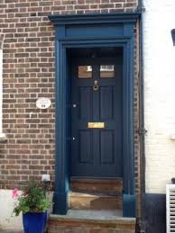 blue front doors27 Chic Dark Front Doors To Try For Your Entry  Shelterness