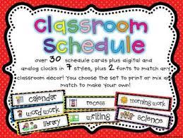 Classroom Routine Chart Classroom Schedule Chart