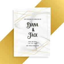 Wedding Card Design Luxury Wedding Invitation Card Design With Marble Texture Download