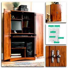 sauder computer desk storage furniture armoire home office workstation hutch new birch office furniture