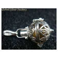 sterling silver 16mm balinese dream ball gamelan ball mexican bola harmony ball pendant wgem jpg