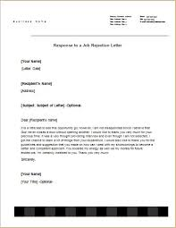 Response Letter Sample Templates For Word Document Templates