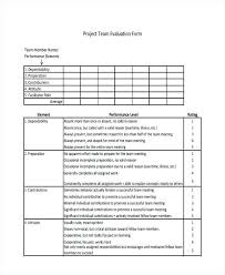 Meeting Evaluation Form Template Team – Vanilja
