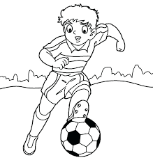 Coloring Pages Soccer Player Soccer Coloring Pages To Print Soccer