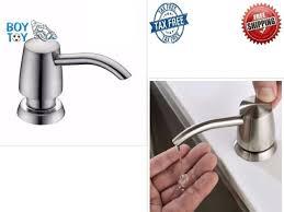 kitchen sink liquid soap dispenser pump countertop brushed nickel bottle 320ml