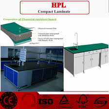 chemical resistant compact laminate used for countertop and cabinet in laboratory