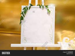 Wooden Easel White Image Photo Free Trial Bigstock
