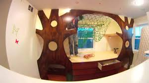 diy kidu0027s indoor treehouse bedroom makeover time lapse on a budget w hammock youtube kids treehouse inside w4 inside