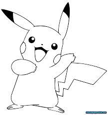 Coloring Page Astonishing Pokemon Colorings Pikachu Photo Ideas