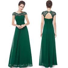 a line bateau cap sleeves open back dark green chiffon bridesmaid
