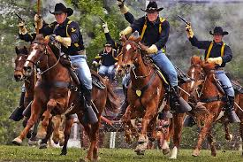 Us Army Cavalry Cavalry Charge Gunpowder And Dirt Fly As The 1st Cavalry