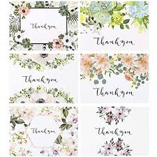 Blank Thank You Notes Luxhill Collective Blank Floral Thank You Cards Bulk Set Of 36 Thank You Note Cards Envelopes Stickers A Wedding Baby Shower Birthday More Pack