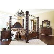 ashley furniture king bedroom sets. Ashley Furniture North Shore 4-Piece Bedroom Set With King Poster Bed Dresser Mirror And Sets E