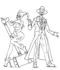 Small Picture Harley Quinn Coloring Pages With Joker And glumme