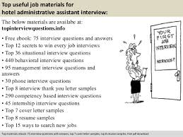 hotel administrative assistant interview questions pdf 10 top useful job materials for hotel administrative assistant interview