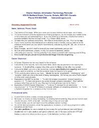 Resume In Usa Format Resume For Study