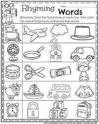 Small Picture 28 Rhyming Worksheets For Kindergarten Kindergarten