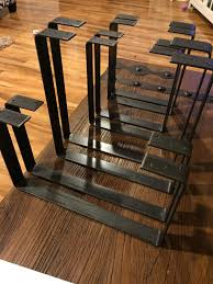 vintage industrial simmons metal side table. Handcrafted Forged Rustic Reclaimed Metal Coffee Table Legs Steel Square Rectangle Brackets Modern Bracket Storage Strap Angle Seat Iron Floating Wood Shelf Vintage Industrial Simmons Side A