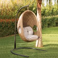 outdoor hanging wicker chair
