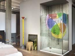 shower cabin with digital printing on glass sintesi digital print by vismaravetro
