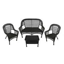 gorgeous 3 piece wicker patio set with 4 piece black resin wicker patio furniture set loveseat 2