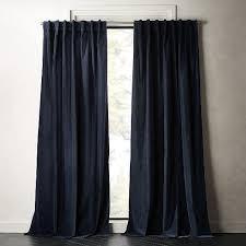 velvet curtain panel midnight blue
