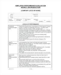 Free Employee Self Evaluation Forms Printable Luxury Performance ...