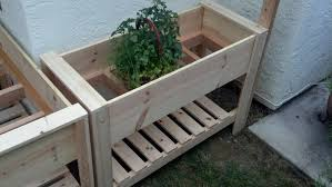 twin raised planter boxes
