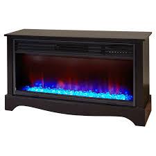 lifesmart lifezone electric infrared quartz low profile media fireplace heater black vent free com