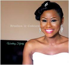 nigerian bridal hair makeup wedding feferity 0013