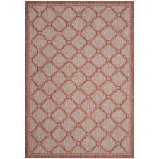 courtyard red beige 7 ft x 10 ft indoor outdoor area rug
