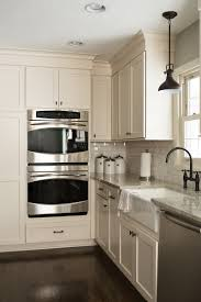 White Kitchens With Stainless Appliances Refrigerator White Cabinets