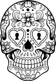 Small Picture Dia De Los Muertos Coloring Pages Sugar Skull Version 6 Wall 6393