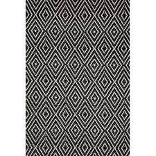 black and cream rug. Diamond Hand Woven Black Indoor/Outdoor Area Rug And Cream