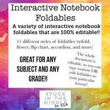 Editable Foldable Templates Interactive Notebook Foldable Templates Editable Tpt