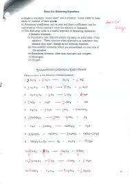 balancing equations worksheet