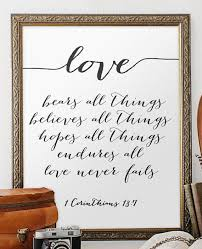 Wedding Quotes Bible Amazing Wedding Quote From The Bible Verse Print Wall Art Decor Poster Love