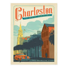 charleston sc the palmetto city postcard