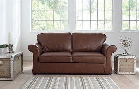 sworth curved leather sofa