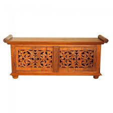 hand carved jali balinese tv unit 120cm