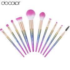 new arrival docolor 10pcs makeup brushes fantasy set foundation powder eyeshadow kits grant color makeup brush set