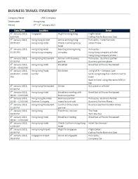 Agenda Template Word 2013 Business Meeting Itinerary Template Business Travel