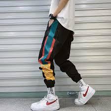 Hip Hop <b>Streetwear Men's</b> Splice Joggers <b>Pants</b> Fashion <b>Men</b> ...