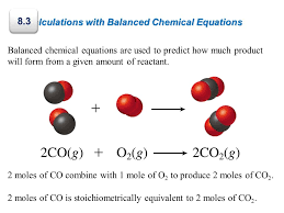 8 3 calculations with balanced chemical equations